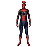 High Quality Spider Man Homecoming Costume Cosplay Adult Superhero Iron Spiderman Cosplay Costume Outfit Halloween Carnival