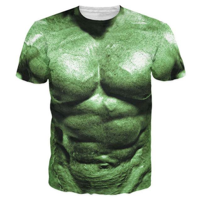 3bee9ba2d Cool 3D Printed T-shirts Men Summer Fashion Hulk Comic Super Hero Character  Muscle T shirt Green Graphic Tees Short Sleeve Tops