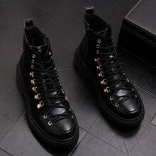 สไตล์อังกฤษบุรุษของแท้รองเท้าหนังชุดไนท์คลับสีดำ booties ข้อเท้า lace   up คาวบอยรองเท้า sapatos hombre