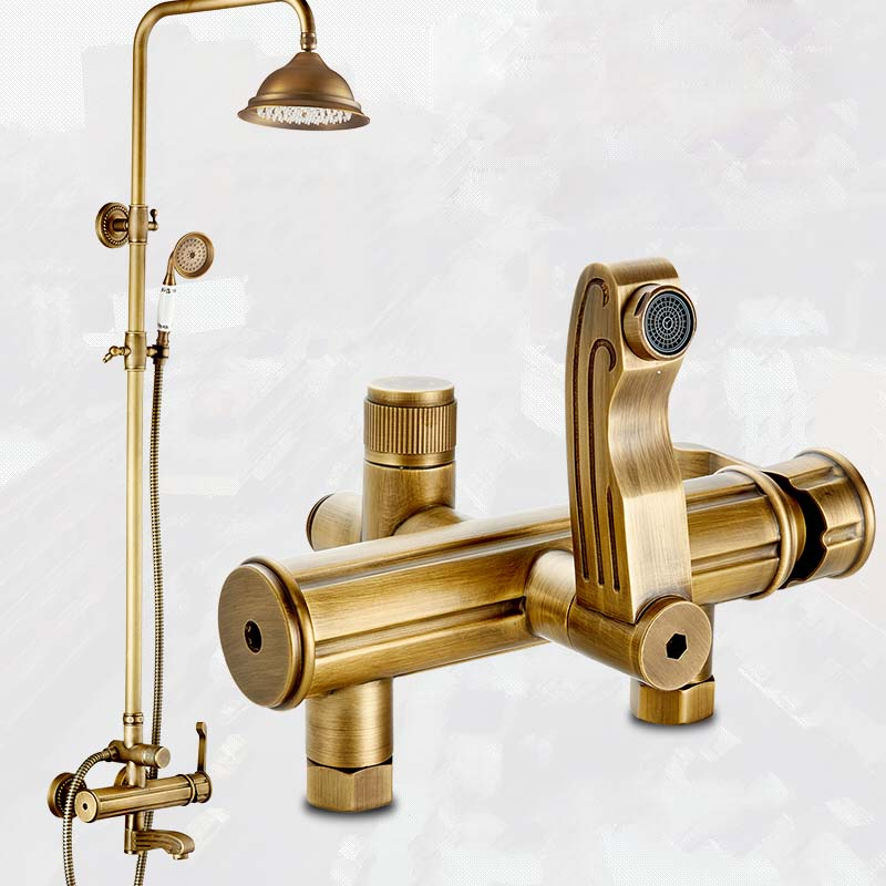 Best Quality Euro Style Bath Tub Shower Faucet Set Wall Mount 8 Rain Shower Head Shower Panel with Handshower