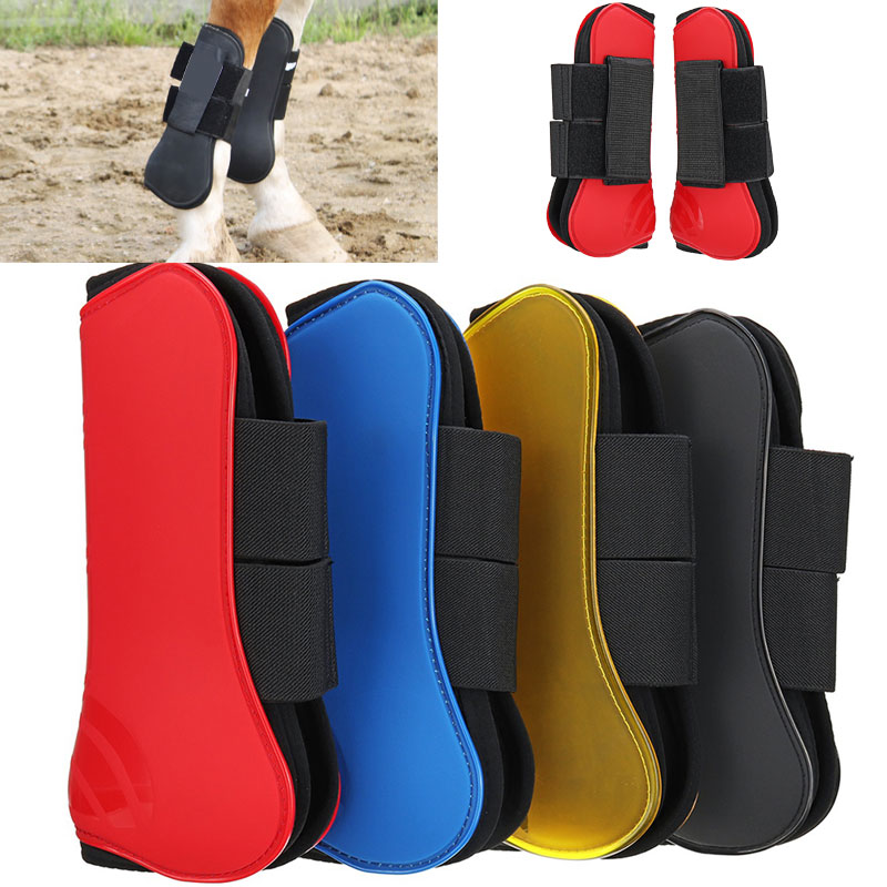 4 Colors PU Horse Leg Guard Partner Jump Riding For Boots Equestrian For Protect Horse'S Foreleg
