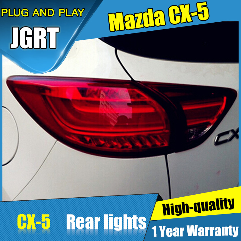 Car Styling for Mazda CX-5 Taillight assembly 2011-2015 CX5 LED Tail Light New CX-5 LED Rear Lamp DRL with hid kit 2pcs.