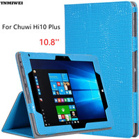 Leather Case For Chuwi HI10 Plus Alligator Texture Flip Cover Stand Holder Cases For CHUWI Hi