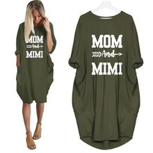 Fashion T-Shirt For Women Mama And Mimi Letters Print Pocket Tops Tshirt T-Shirt Women Plus Size Off The Shoulder Punk Wonder off the shoulder plus size printed t shirt