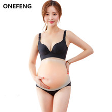 ONEFENG Skinless Belly 1200-1500g Fake Stomach Real Skin Silicone Belly for Drag Queen Crossdresser Fake Pregnant free shipping 4 5 month silicone pregnancy belly fake belly pad silicone belly for false pregnant 1500g