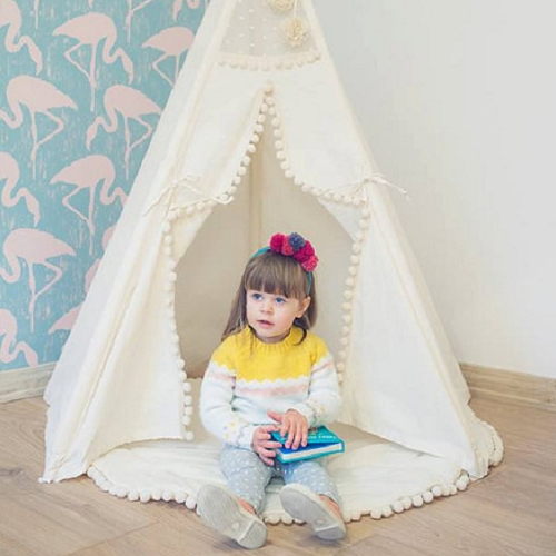 2016 New Baby Crawling tassel Blanket Cotton Kids Room Floor Carpet Round Handmade Chilren Padded Play Mat Rug 110cm sweet years sy 6285l 12