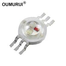 HPO perles de LED haute puissance, puce RGB 3 W, Six broches, 350mA, 3.2 V, 3.4 v, rouge, vert et bleu, genèse/HPO, livraison gratuite, 2.0 pièces