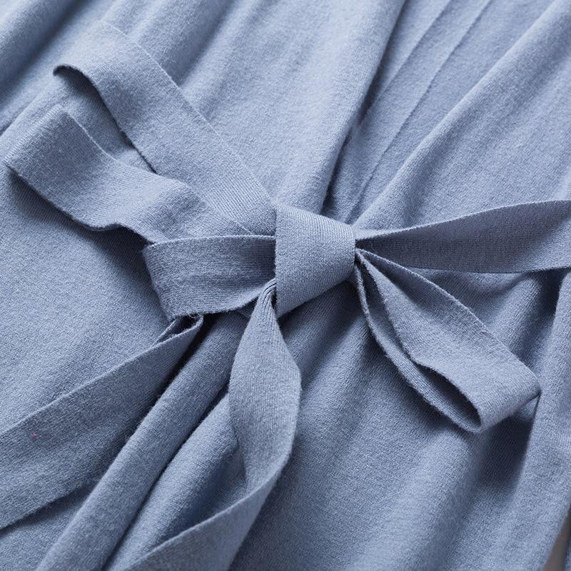 Version Fille Fourchette Poncho Chandail Lent Chart Chart Veste Couleur Feminino Pur noir Châle see Allongé Chic See Extérieure Cardigan Coréenne Nouveau BFIqW6Z