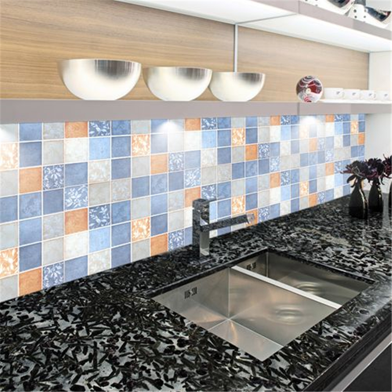 beibehang 60cmx200cm/rool PVC oil proof mosaic bathroom waterproof self-adhesive stickers kitchen tile wallpaper wallpaper bathroom kitchen wallpaper home decor diy self adhesive tile stickers
