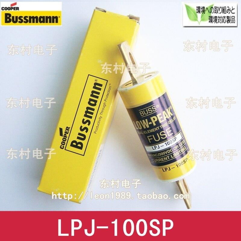 [SA]US imports fuse LOW-PEAK fuse BUSSMANN LPJ-100SP 100A 600V--3PCS/LOT