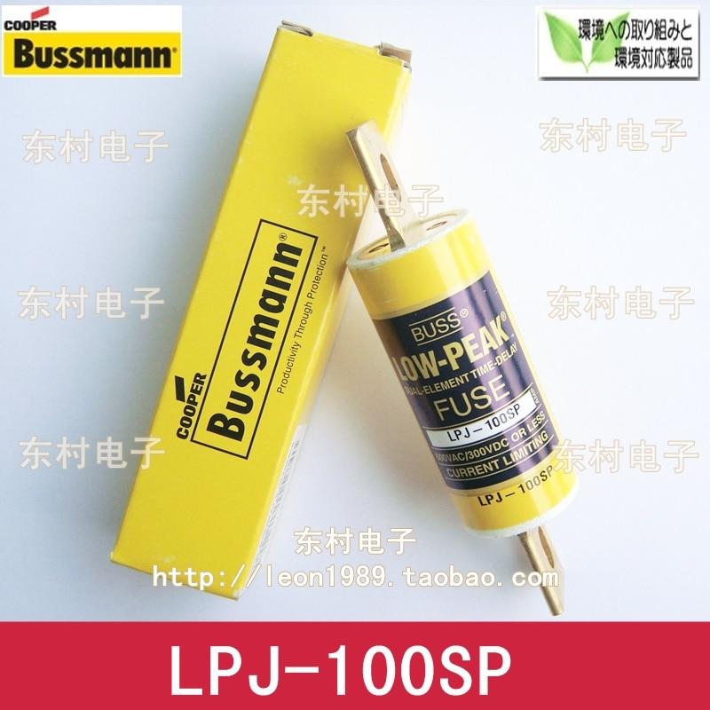 [SA]US imports fuse LOW-PEAK fuse BUSSMANN LPJ-100SP 100A 600V--3PCS/LOT imports mg150q2ys50 mg100q2ys50 100