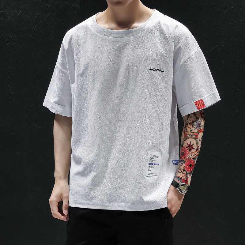 2020 letnia codzienna koszulka dla mężczyzn bawełniana pół rękawa koszulka męska O-neck luźna krótka koszulka męska koszulka Homme