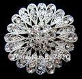 Большой Серебряный Rhinestone Кристалл Pin Цветок Свадебный Брошь для Свадебные Приглашения