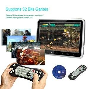 """Image 3 - 10.1 """"1024*600 자동차 머리 받침 모니터 DVD 비디오 플레이어 휴대용 자동차 TV 모니터 USB, SD, HDMI, IR, FM TFT LCD 터치 버튼 게임"""