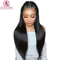 Pre Plucked Glueless Full Lace Human Hair Wigs For Women 250% Brazilian Straight Lace Wig With Baby Hair Black Rosa Queen Remy