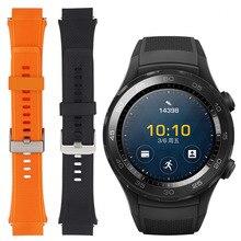 Substituição relógio Inteligente acessórios Quick Release TPE WatchBand Relógio de Pulso bandas Cinta para HUAWEI 2 Android Esporte Desgaste 2.0