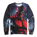 Shelikeit Men's Sweatshirts Man Wei death paternity 3D printing round neck hedging long-sleeved Hoodies