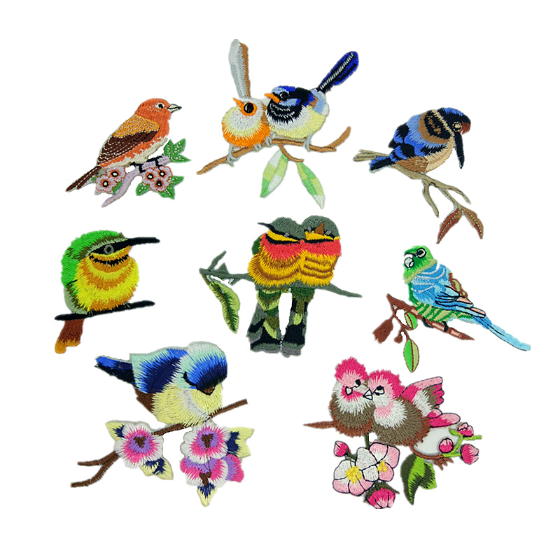 Birds Embroidery Embroidery Patches Birds Combination Cloth Patches D-007