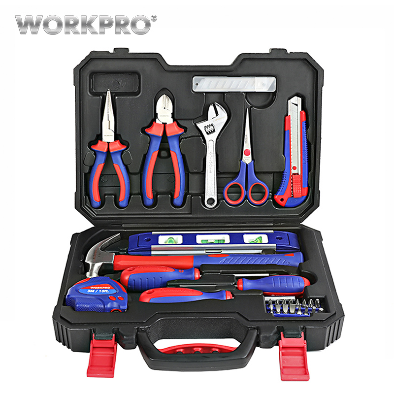 WORKPRO 28PC Home Tool Set Household Tool Kits Screwdrivers Pliers Scissor Knife HammerWORKPRO 28PC Home Tool Set Household Tool Kits Screwdrivers Pliers Scissor Knife Hammer