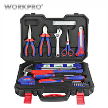 WORKPRO 28PC Home Tool Set Household Tool Kits Screwdrivers Pliers Scissor Knife Hammer стоимость