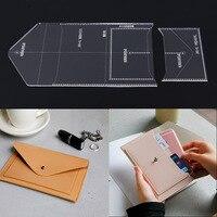 Японская сталь лезвие дамы ручная сумка бумажник издание шаблон DIY ручной работы кожаный шаблон акриловый дизайн прочный шаблон 18x11x1cm