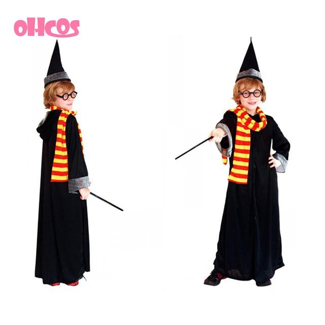 Ohcos Best Selling Harry Potter Robe Gryffindor Cosplay Costume Kids