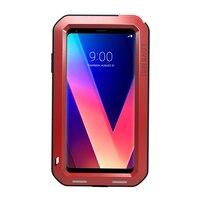 Luxury Aluminum Metal Case For LG V30 Case With Gorilla Glass Toughened Shockproof Dustproof Phone Hard
