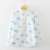 2016 novas mulheres Pequenas Nuvens dos desenhos animados personagem impressão com botão impresso mulher outono de manga comprida camisas de algodão blusa branca