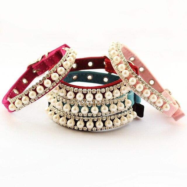 dreambows Imitation Pearls Rhinestone Chain Pet  Dog Cat Princess Collar 6041017 Fashion Dogs Cats Collars