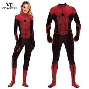 Image 1 - Vip Mode Spiderman Ver Van Huis Peter Parker Cosplay Zentai Van Justitie Superhero Vrouwen En Mannen Cosplay Kostuum Voor Unisex