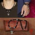 Ручной работы оникс бусины ожерелье тайский 925 ганеш fotune будда амулет ожерелье тибетский будда ожерелье человек подарок
