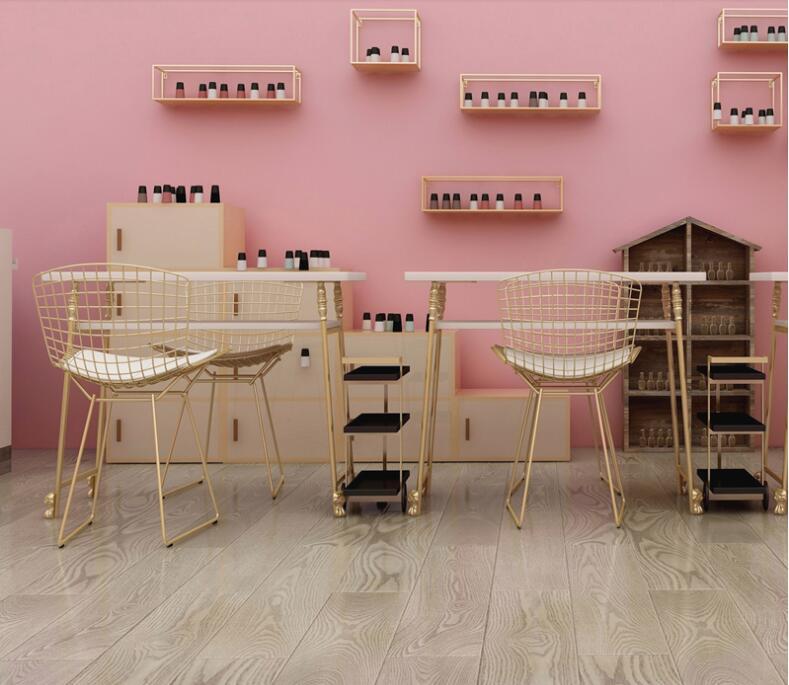 ZuverläSsig European Nail Tisch Einzigen Doppel Nail Tisch Stuhl. Koreanischen Maniküre Tisch