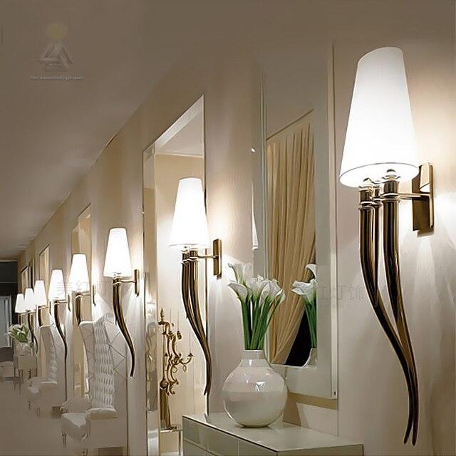 Oro Cromo Moderno da parete in acciaio lampada per camera da letto ...
