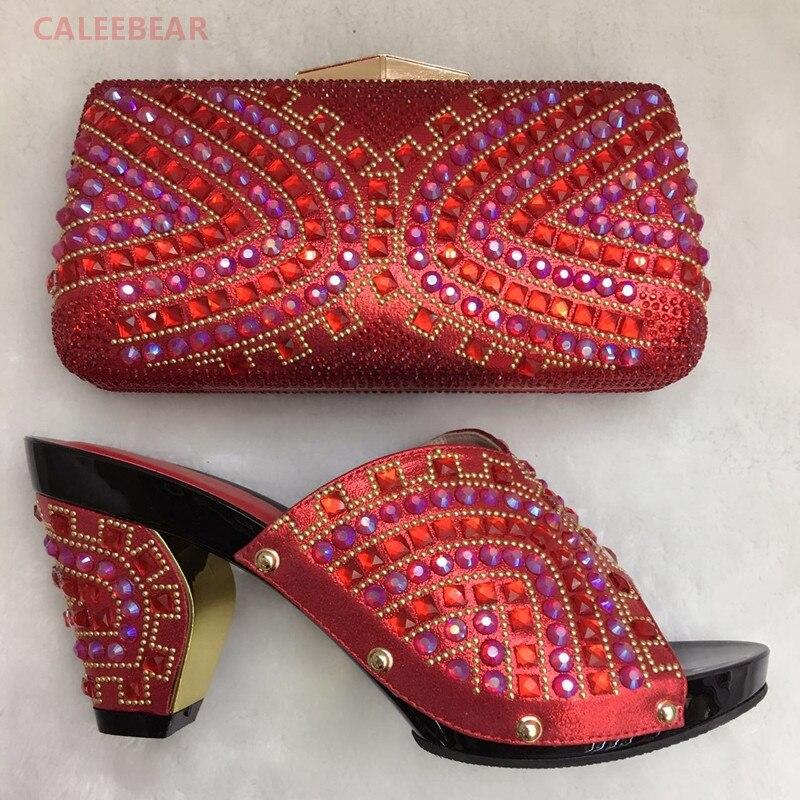 Royal Blue High Heel Italienische Schuhe Mit Passenden Taschen Set Für Party  Afrikanischen Nigeria Hochzeit Schuh Und Tasche Zu Passen Mit Steinen in  Royal ... fc6856ab83
