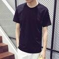Venta caliente de verano de manga Corta de los hombres Camisetas, algodón slim fit O-cuello de la camiseta Del color sólido de la alta calidad t camisa Envío gratis