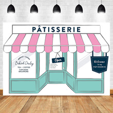 NeoBack Patisserie Buffet Backdrop Bake Shop Birthday Photography Background Vinyl French Cafe Party Banner Backdrops