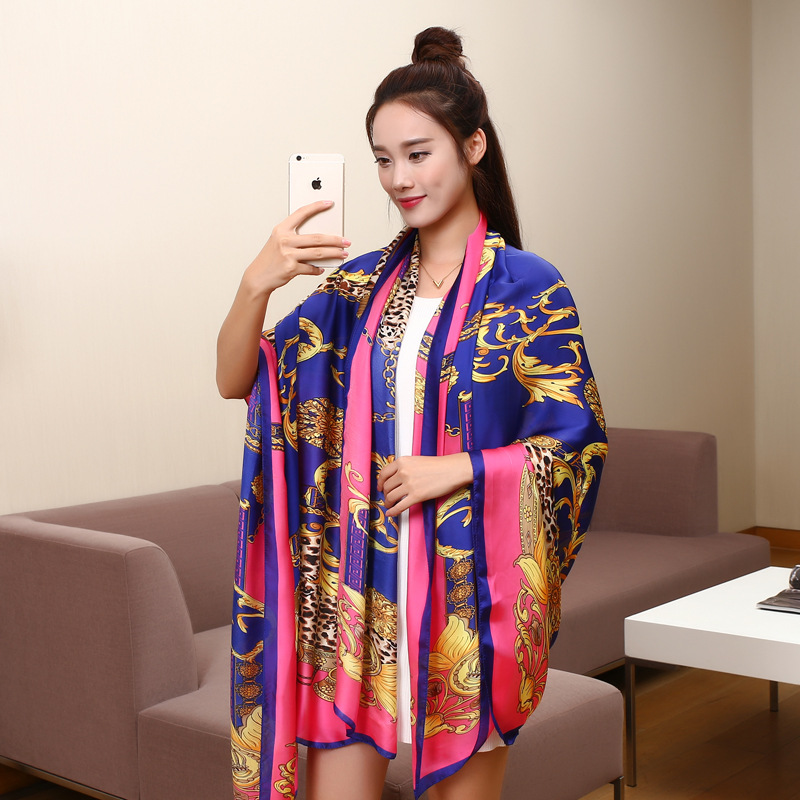 195*140cm fashion Silk Scarf luxury brand winter scarf women Long Soft Bandana Classic designer Shawls and scarves poncho