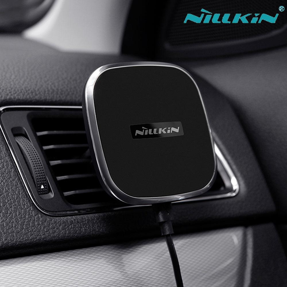 imágenes para Nillkin QI Inalámbrica Cargador de Coche Magnético Holder Air Vent Mount Para Samsung S7 S8 Más S6 edge Edge Para iPhone 8 6 6 s 7 Más