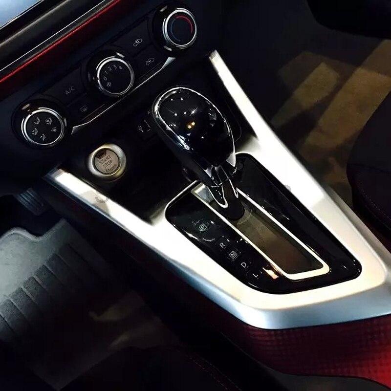 For Nissan Lannia 2016 Chrome Matte Car Interior Center Consoles Gear Box Molding Trim Cover Auto Decoration Accessories