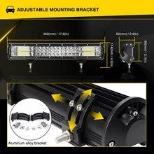 4″ 7″ 10″ 12″ 17″ 20″ inch 60W 120W 144W 180W 252W 288W Triple Row LED Work Light Bar for Truck Offroad Boat Car 4WD ATV SUV UAZ