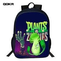QOKR Trẻ Em Schoolbag Hot Game VS Zombie Print Backpack đối với Thiếu Niên Chàng Trai và Cô Gái Chỉnh Hình Phim Hoạt Hình Cặp Đi Học