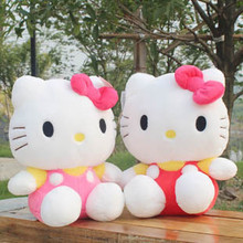 Free Shipping 35cm Hello kitty bow HELLO KITTY kt cat doll birthday gift day gift
