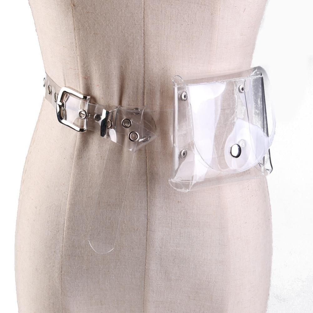 Summer Transparent Belt Bag Hologram Fanny Pack Women Men Clear Waist Bag Laser Funny Pack Holographic Pouch Belt Bag Chest Bag