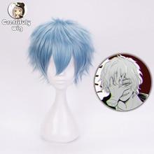 My Hero Academia Boku no Hiro Akademia Shigaraki Tomura Short Blue Cosplay Costume Synthetic Hair Wig + Free Cap