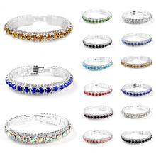 Glitter Silver Zircon Bracelet Fashion Crystal Link Chain Jewelry Bangles  women girls Wedding Party Female Jewelry Accessories футболка мужская jack wolfskin moscow цвет красный 5017131 2015 размер s 42 44