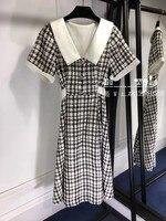 WE07462 высокое качество, новые модные женские туфли 2018 летнее платье Элитный бренд Европейский Дизайн вечерние стильное платье