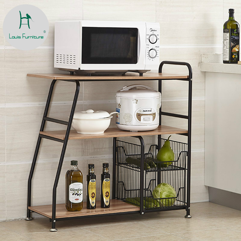Us 6043 11 Offlouis Fashion Kitchen Islands Shelf Landing Shelf Folding Trolley Microwave Oven Storage Rack In Kitchen Islands Trolleys From