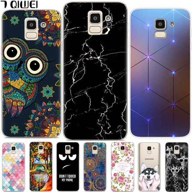 For Samsung J6 2018 Case J600F J600G Marble Silicone Soft Cases for Funda Samsung  Galaxy J6 2018 Case Cover Owl Slim TPU Coque 66cc5be5d359
