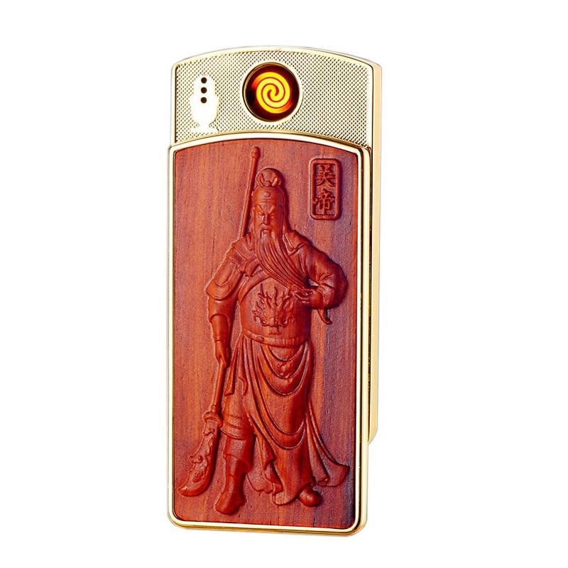 font b USB b font Lighter Charging Creative Chinese Style Windproof Men Cigarette Lighter Encendedor