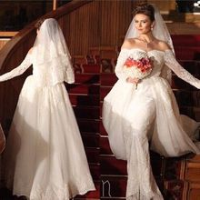 kejiadian Long Sleeve Mermaid Wedding Dresses